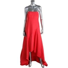 Halston Heritage Womens Silk Blend Hi-Low Evening Dress - 2