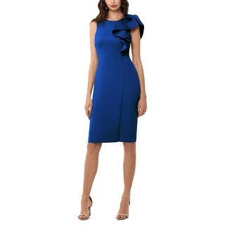 Link to Betsy & Adam Women's Dress Royal Blue Size 4 Sheath Ruffle Shoulder Similar Items in Dresses