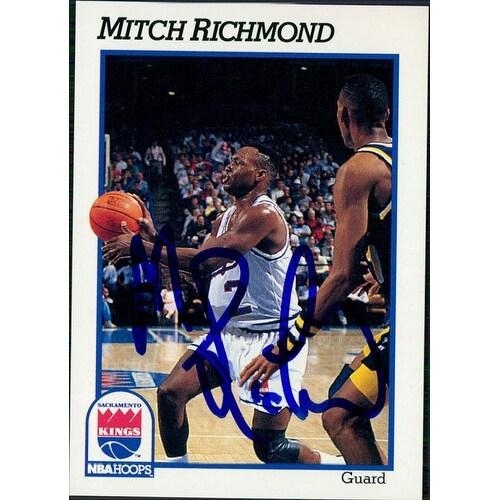 size 40 3eef3 cf4ed Signed Richmond Mitch Sacramento Kings 1991 NBA Hoops Basketball Card  autographed