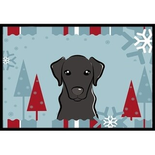 Carolines Treasures BB1731JMAT Winter Holiday Black Labrador Indoor & Outdoor Mat 24 x 36 in.