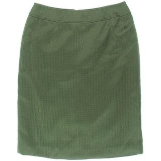 Tahari ASL Womens Ira Textured Solid Pencil Skirt