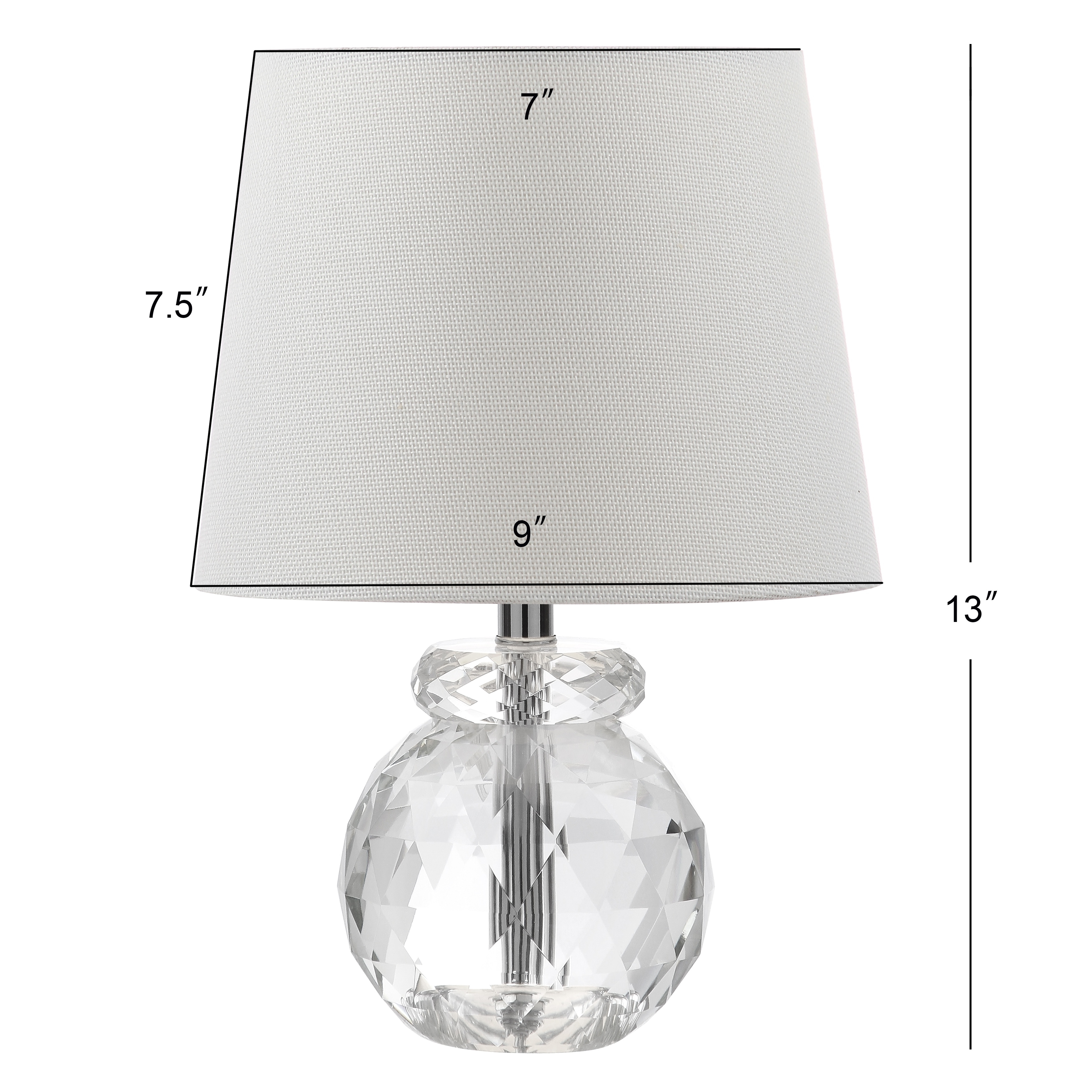 Safavieh Lighting 13 Inch Eunice Crystal Table Lamp 9 X9 X13 On Sale Overstock 13434432