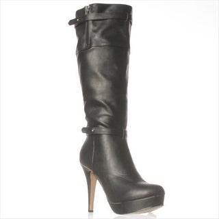 madden girl Nastyy Knee-High Boots - Black Paris