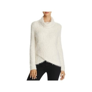 Freeway Womens Turtleneck Sweater Metallic Textured