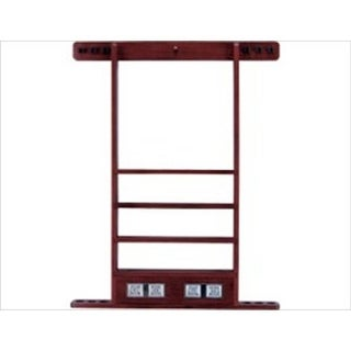 CueStix WRSC WINE Wall Rack - 6 Cue with Score Counter Wine