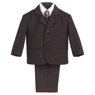 Little Boys Brown Special Occasion Wedding Easter 5pc Suit Set 12M-14 (Option: Medium)|https://ak1.ostkcdn.com/images/products/is/images/direct/573e6dddddf5ac51deb8232ae01cad5bcf04aa05/Little-Boys-Brown-Special-Occasion-Wedding-Easter-5pc-Suit-Set-12M-14.jpg?_ostk_perf_=percv&impolicy=medium