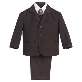 Little Boys Brown Special Occasion Wedding Easter 5pc Suit Set 12M-14|https://ak1.ostkcdn.com/images/products/is/images/direct/573e6dddddf5ac51deb8232ae01cad5bcf04aa05/Little-Boys-Brown-Special-Occasion-Wedding-Easter-5pc-Suit-Set-12M-14.jpg?impolicy=medium