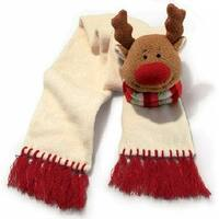 Russ Berrie Scarf with Plush Deer - 9.0 in. x 8.0 in. x 11.0 in.