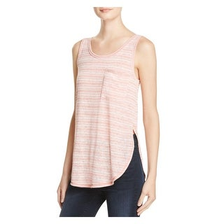Aqua Womens Casual Top Striped Sleeveless (4 options available)