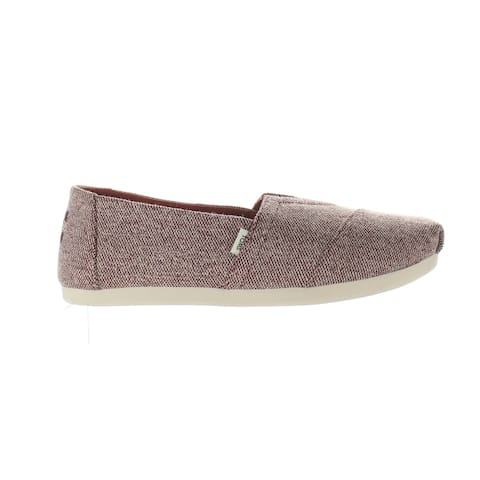 TOMS Womens Alpargata Red Loafers Size 5.5