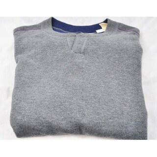 Tommy Bahama Fog Grey Heather Size Large Open Collar Sweater