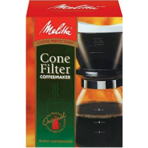Melitta 640616 Gourmet Pour-Over Coffeemaker, 10-Cup