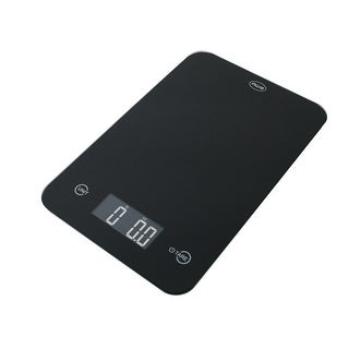 American Weigh Scales ONYX-5KG-BLK Kitchen Scale with Large Glass