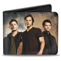 Dean, Sam & Castiel Group + Nothing In Our Lives Is Simple Supernatural Bi Bi-Fold Wallet - One Size Fits most