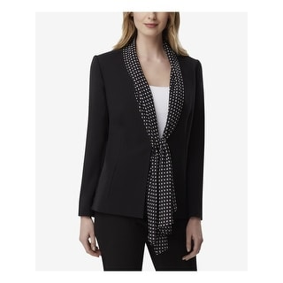 TAHARI Womens Black Blazer Formal Coat  Size 12
