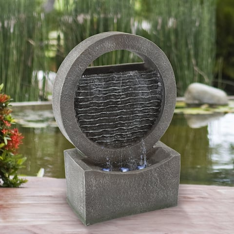 "18.5"" Round Cascade Fountain by Pure Garden - 6.25 x 11 x 18.5"