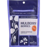 Navitas Naturals Mulberry Berries - Organic - Sun-Dried - 4 oz - case of 12