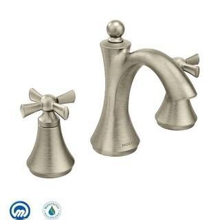 Moen T4524  Wynford Double Handle Widespread Bathroom Faucet (Less Valve)
