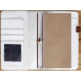 """Color Crush Faux Leather Travelers' Planner 5.75""""X8""""-Natural"""
