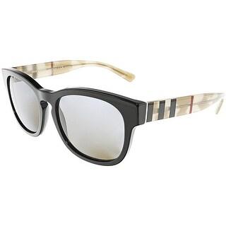 Burberry Men's Polarized BE4226-360081-55 Black Oval Sunglasses