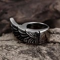 Vienna Jewelry Stainless Steel Eagle's Wing Ring - Thumbnail 2