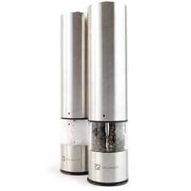 Zelancio Electric Salt and Pepper or Spice Grinder Set Battery Powered One Touch Grind Set of 2 Mills