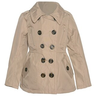 Urban Republic Girls Stone Double Breasted Back Button Detail Coat