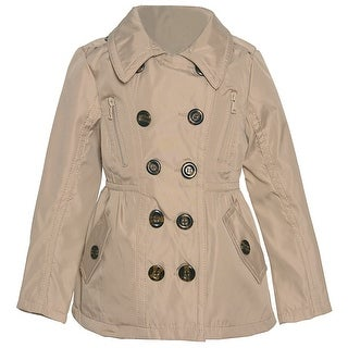 Urban Republic Little Girls Stone Double Breasted Back Button Detail Coat