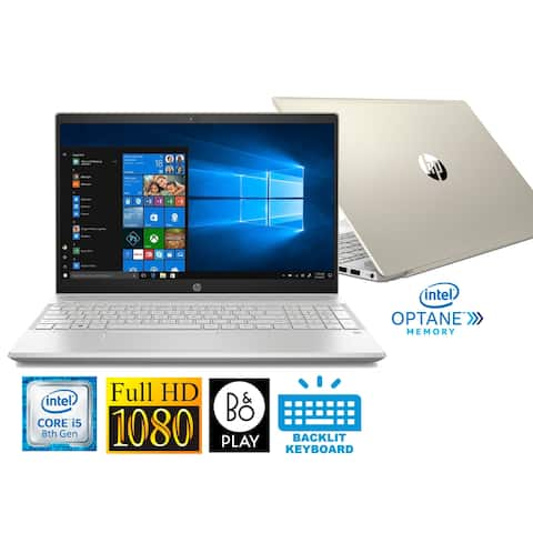 "HP Pavilion 15.6"" Full HD Laptop with Intel i5-8250U 8GB 1TB HDD & B&O Play (Refurbished)"