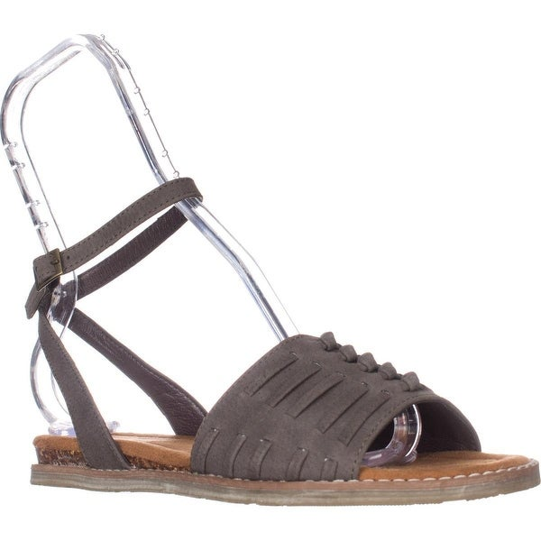 Bearpaw Amelia Woven Ankle Strap Sandals, Brown