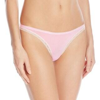 Calvin Klein Womens Thong Panty Printed Lace Trim