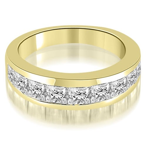 1.80 cttw. 14K Yellow Gold Classic Channel Set Princess Cut Diamond Wedding Band