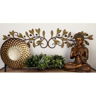 Link to Copper Grove Kitty 48-inch Metal Leaf Wall Decor Similar Items in Wall Sculptures