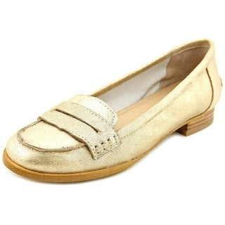 Splendid NEW Gold Shoes Size 6M Penny Solid Ballet Flats Leather