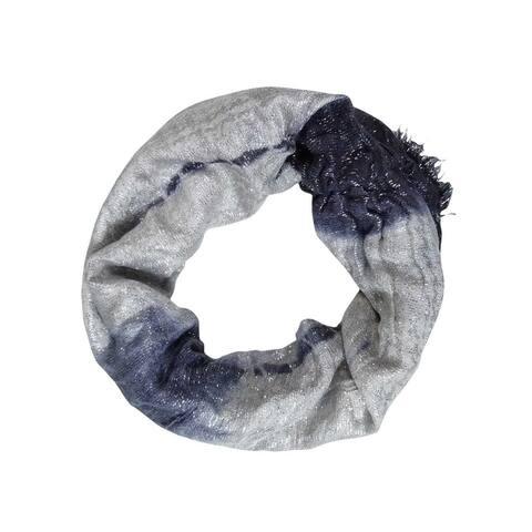 Collection Eighteen Women's Metallic Tie Dye Loop Scarf - One Size Fits Most