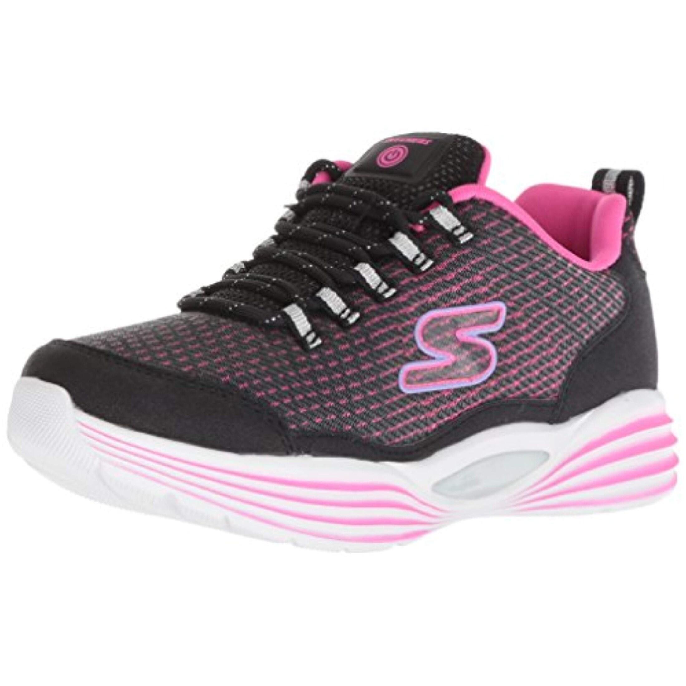 Skechers Kids Girls' Luminators Luxe Sneaker, BlackPink
