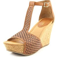 Kenneth Cole Reaction Womens Sole Tan Open Toe Casual Platform Sandals