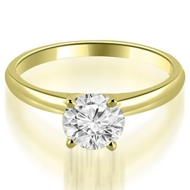 0.50 cttw. 14K Yellow Gold Four Prong Classic Round Cut Solitaire Diamond Ring