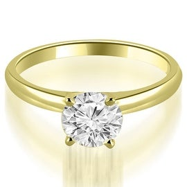 0.75 cttw. 14K Yellow Gold Four Prong Classic Round Cut Solitaire Diamond Ring