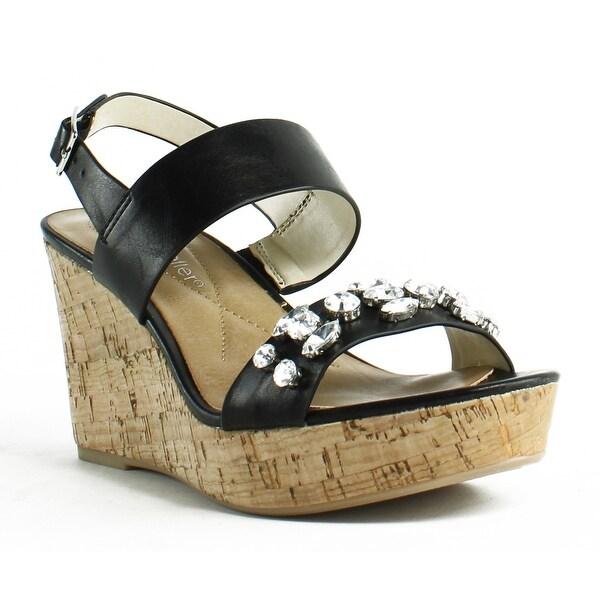323f711c89e Shop Andrew Geller Womens Destin Black Ankle Strap Heels Size 6.5 ...