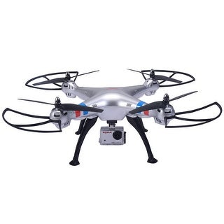 Syma X8HG 2.4Ghz 4CH 6-Axis Gyro RC Quadcopter Drone HD Camera RTF-silver
