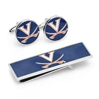 University of Virginia Cavaliers Cufflinks and Money Clip Gift Set - Multicolored