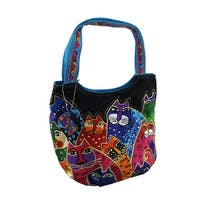 Laurel Burch Whiskered Family Medium Scoop Tote Bag