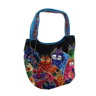 Laurel Burch Whiskered Family Medium Scoop Tote Bag - Multicolored