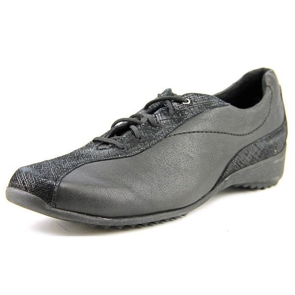 Munro American Sydney Women N/S Round Toe Leather Black Sneakers