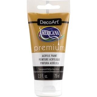 Americana Premium Acrylic Paint Tube 2.5Oz-Transparent Yellow Iron Oxide