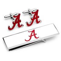 University of Alabama Crimson Tide Cufflinks and Money Clip Gift Set - Red