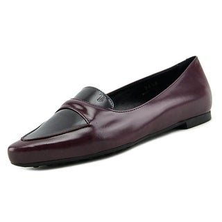 Tod's Gomma Marocchina Sq Mocassino Women Pointed Toe Leather Purple Loafer