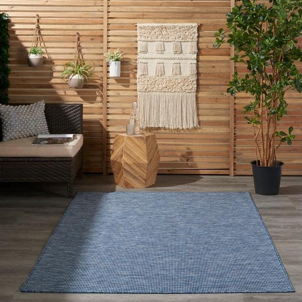 Nourison Positano Indoor/Outdoor Striped Solid Area Rug. Opens flyout.
