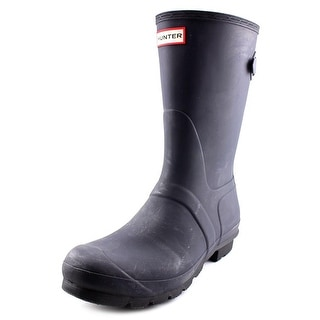 Hunter Orig Back ADJ Short Round Toe Synthetic Rain Boot